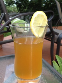 Lemony iced tea...it just screams summer.
