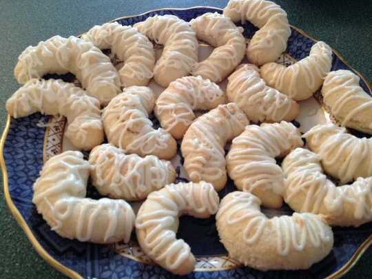 Simply delicious almond crescents