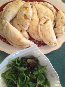 Salad and Beef Pastries make a savoury dinner