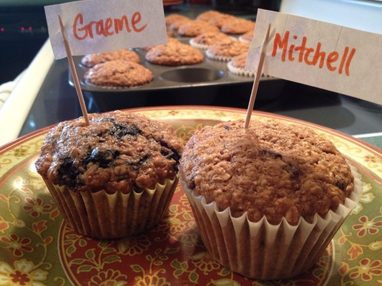 Each of my boys has a favorite version of this fibre-packed muffin