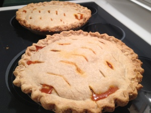 It's important to have the pie-lids vented so that the steam and liquids can escape.