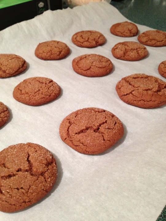 Delicious sugary crackled tops and a spicy cookie...wow!