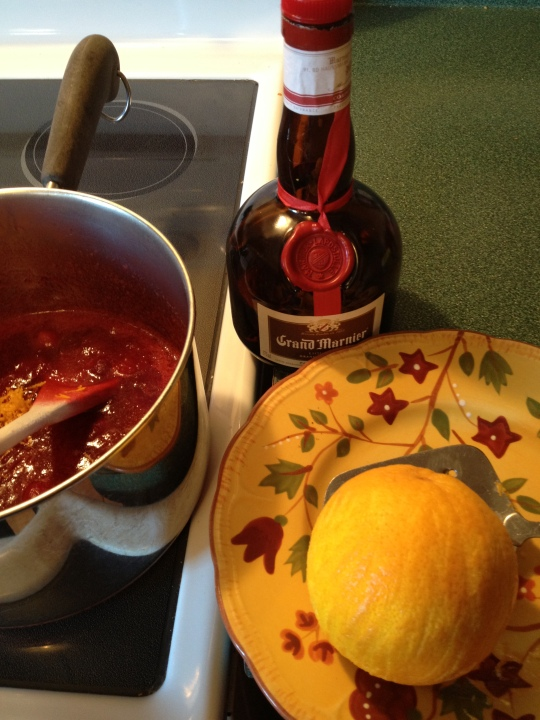 Cranberries, orange zest and Grand Marnier make this a delicious mix to serve with your Thanksgiving or Christmas turkey