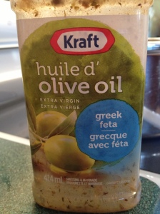 To save time, I used this Kraft brand of pre-made dressing.