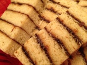 Moist, delicious flavours of shortbread, almond and cardamom