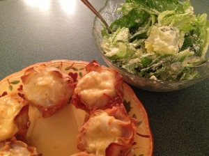 Served with a Caesar or green salad, this makes a nice simple dinner.