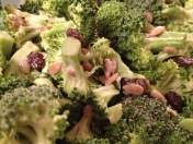 Goodbye shortbread, and hello getting some fresh greens like Broccoli and Raisin Salad on the table!