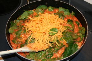 Adding the spinach and cheddar cheese helps increase the calcium level of this dish