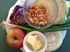 Some of the ingredients ready to be melded together.